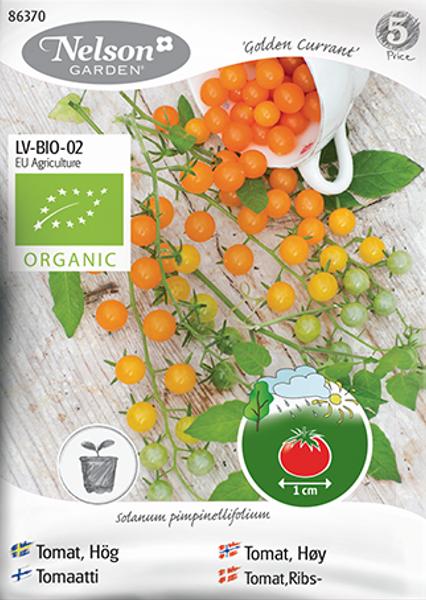 Tomat, drivhus- 'Golden Currant' - Organic