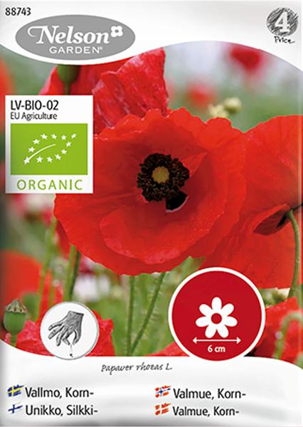 Valmue, korn- Papaver rhoeas - Organic