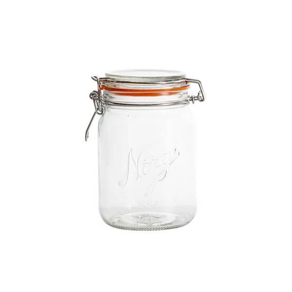 Norgesglass 0,7l – hengslet lokk