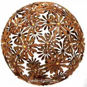 Bilde av Dekorkule i jern - Daisy gold, 40 cm