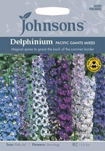 Bilde av Ridderspore 'Pacific Giants Mixed' - Delphinium